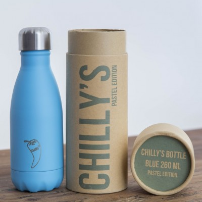 BOTELLA ISOTÉRMICA CHILLY´S 260 ML PASTEL AZUL