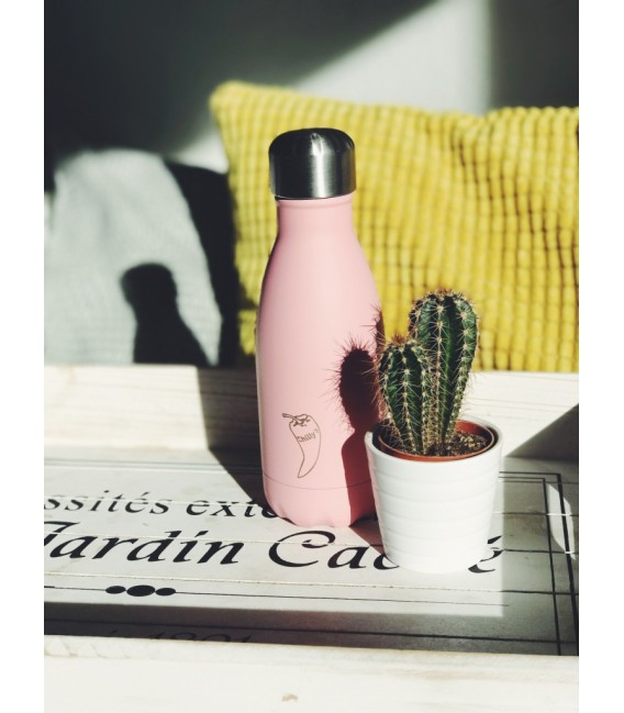 BOTELLA ISOTÉRMICA CHILLY´S 260 ML PASTEL ROSA