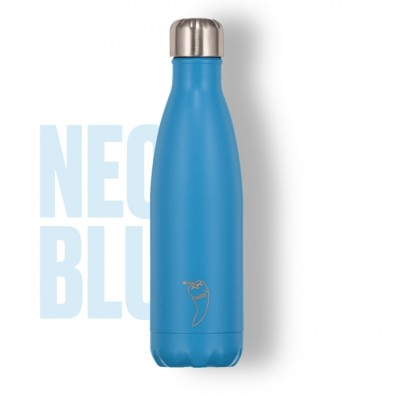 BOTELLA ISOTÉRMICA CHILLY´S 500 ML NEON AZUL