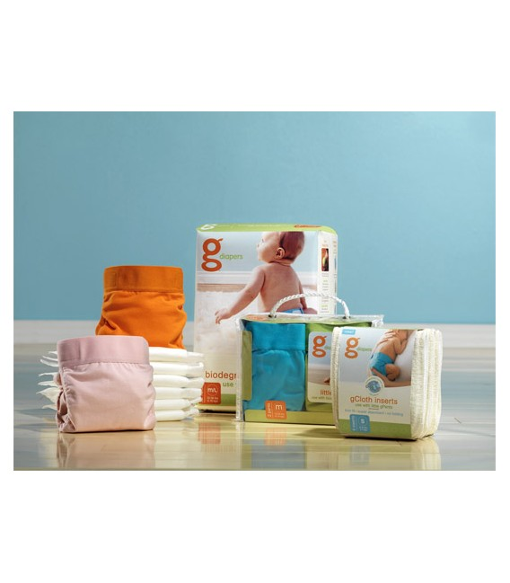 PAÑALES DE TELA GNAPPIES ABSORBENTES DESECHABLES BIODEGRADABLES GREFILL
