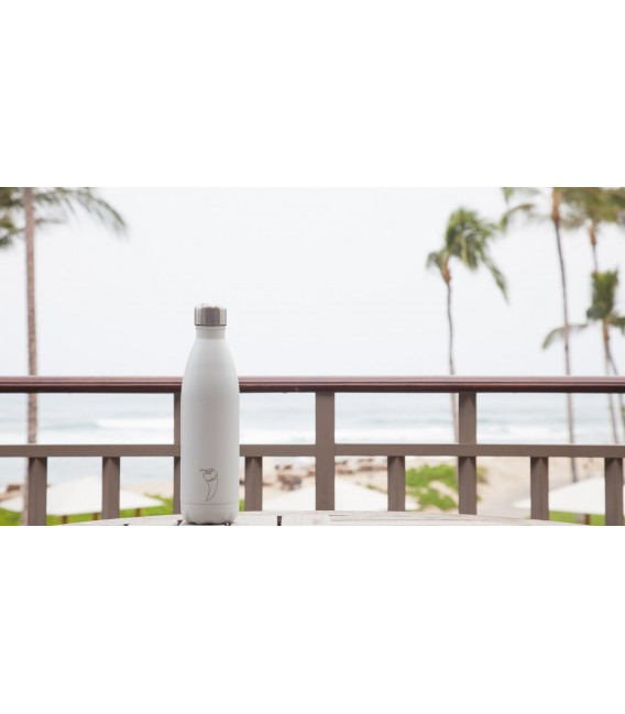 BOTELLA ISOTÉRMICA CHILLY´S 500 ML BLANCO MATE
