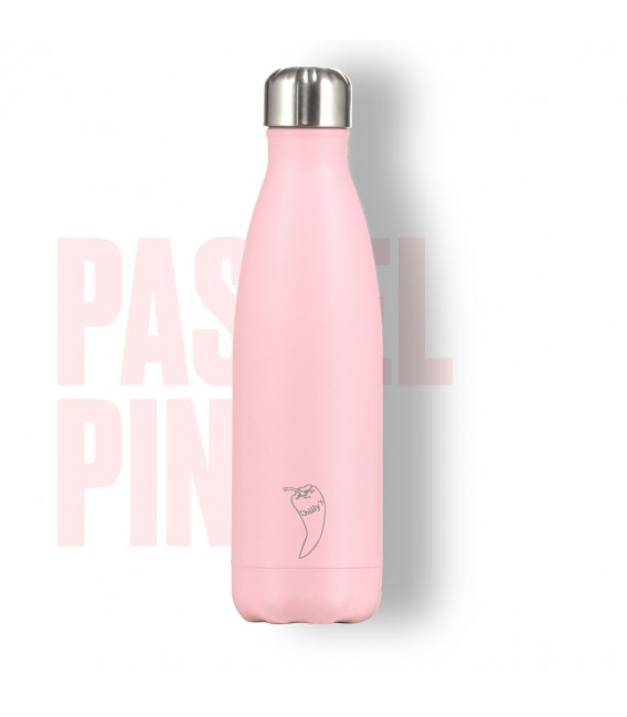BOTELLA ISOTÉRMICA CHILLY´S 500 ML PASTEL ROSA