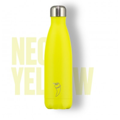 BOTELLA ISOTÉRMICA CHILLY´S 500 ML NEON AMARILLO