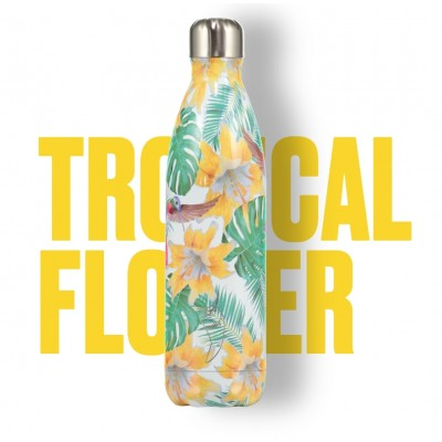 BOTELLA ISOTÉRMICA CHILLY´S 500 ML TROPICAL FLOWER