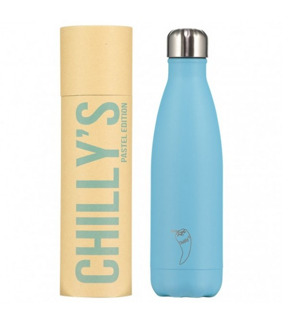 BOTELLA ISOTÉRMICA CHILLY´S 500 ML PASTEL AZUL