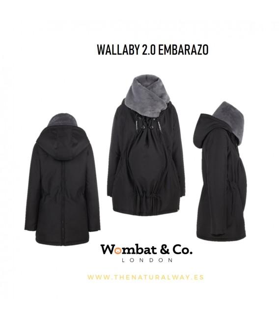 ABRIGO DE PORTEO WALLABY 2.0 NEGRO CUELLO GRIS