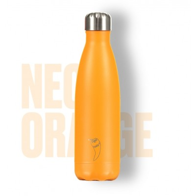 BOTELLA ISOTÉRMICA CHILLY´S 500 ML NEON NARANJA