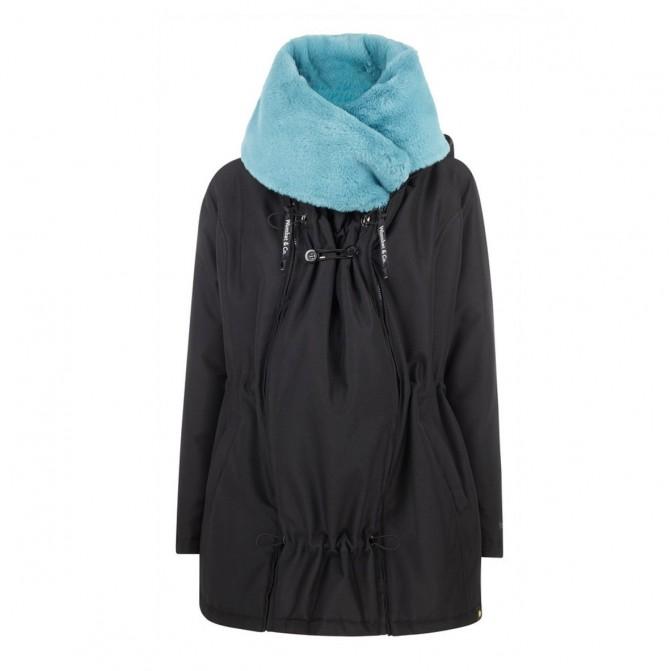 cuello azul wallaby abrigo